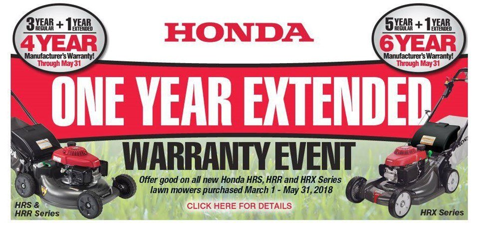Honda Power Equipment - One Year Extended Warranty on Residential Mowers